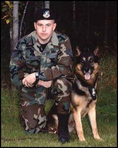 We honor and remember USAF SGT and his military working dog.