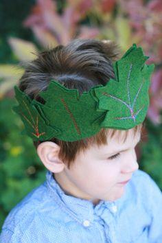 Fairy crown Leaf Crown Kid's crown Green leaves by Whimsywerks, $25.00