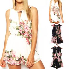 """PREORDERS today on these BEAUTIFUL O Neck Chiffon Feminine Floral Romper's!! (chiffon) ALWAYS Free Shipping within the US!! ✨Remember preorders can take 3-6 weeks to arrive!!✨ALL SALES ARE FINAL!! NO REFUNDS AND NO EXCHANGES!!✨    S--Bust: 33.1""""Waist: 23.6""""-31.5"""" Hips: 33.9"""" Length: 26""""    M--Bust: 34.6""""Waist: 25.2""""-33.1""""Hips: 34.6""""Length: 26.4""""    L--Bust: 36.2"""" Waist: 26.8""""-34.6"""" Hips: 35.4"""" Length: 26.8"""" 