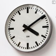 Industrial Clock - vintage factory clock - IBM, 1960 - @ Theory of Supply