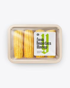 Plastic Tray With Corn Mockup in Tray & Platter Mockups on Yellow Images Object Mockups - Berny Minchinton Plastic Plastic, Plastic Trays, Plastic Film, Plastic Food Packaging, Bottle Packaging, Fresh Fresh, Food Fresh, Food Packaging Design, Coffee Packaging