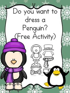 Do you want to dress a penguin? This is a fun craft and book idea for preschool or kindergarten age students. Great project for winter!