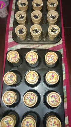 Melting ice cream cakes