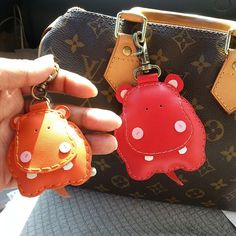 Handmade Hippo leather charm , message me for pricing or order at Facebook: beon kan
