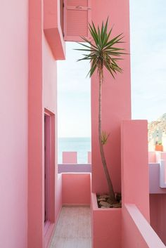 La Muralla Roja, Spanish for 'The Red Wall,' is a housing project located within the La Manzanera development in Spain's Calpe