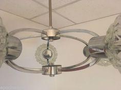 Space-Age-5er-Sputnik-70er-Jahre-Deckenlampe-Ufo-Atomic-Lampe-Vintage-Design