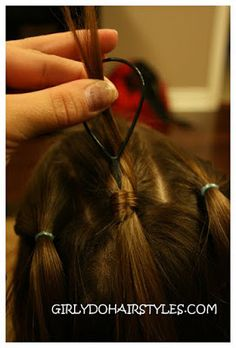 Girly Do Hairstyles: By Jenn: Ideas For Short Hair---#7 Use a topsy tail to wrap a ponytail with hair.  Clever.
