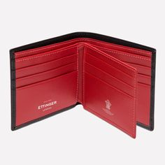 Ettinger London - Luxury Leather Goods - Sterling Billfold Wallet with 12 C/C in Red