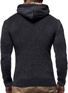 MEN/'S INSERCH Grey Sweater with Zipper Mock Neck Elbow Patches Acrylic PU Trim