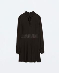 MONA VANDERWAAL BOW  COLLAR DRESS from Zara