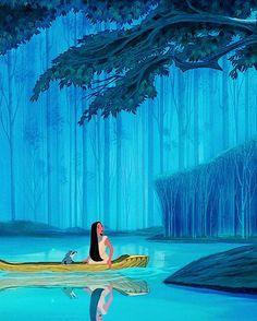Pocahontas, Meeko & Flit, around the river bend.