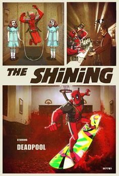 "Deadpool in ""The Shining"""