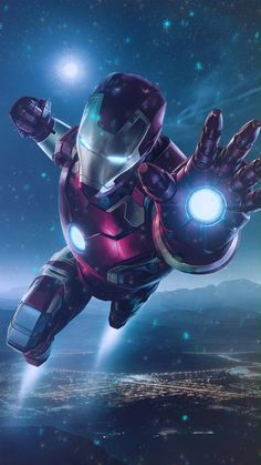 Animated Video GIF(DOWNLOAD) Phone Wallpaper Iron man Snow