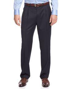 Lauren Ralph Lauren Navy Solid Big and Tall Dress Pants