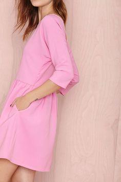 Pinky Babydoll Neela Dress, with pockets!