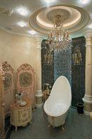 "Bathroom by Tatiana Bozhovskaya's ""Studio Exclusive Interior"". Furniture by Fratelli Radice"