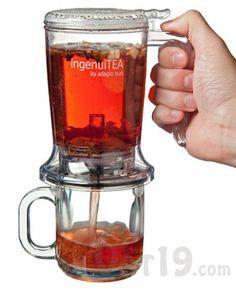 Loose tea brewer: http://www.vat19.com/dvds/ingenuitea-loose-leaf-tea-teapot.cfm