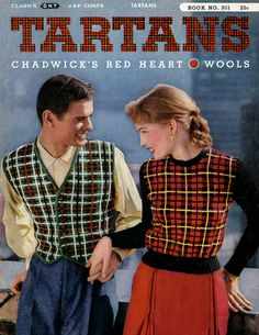 Tartans | Clark's O.N.T. J&P Coats Book No. 501 --Site for free Vintage patterns