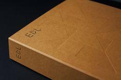 Blind embossed and black block foiled brochure for high pressure laminate distributor EDL by graphic design studio Bravo.