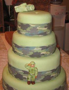 Military Cake By ajquirino on CakeCentral.com