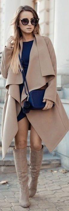 #fall #fashion camel / coat + boots
