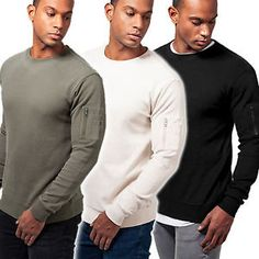 Urban Classics Herren Bomber Sweatshirt Pullover TB1585 | eBay