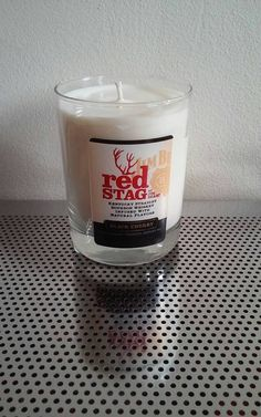 Red Stag Bourbon Whiskey Soy Wax Candle by LimeGreenTaxiShop #limegreentaxishop #madeinbrooklyn #soycandles #burnbabyburn #mandle #redstag