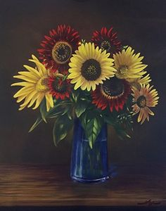 Garden Variety by Curt Ives Oil ~ 28 x 22 This was a boquet of sunflowers that I had a few years ago in my house. It was a fun painting to do, glad I took photos of the boquet.