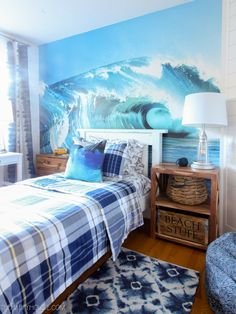 Surf Style Beachy Bedroom Makeover Reveal