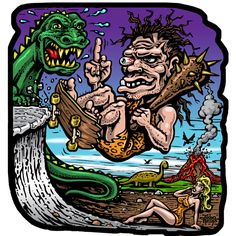 Dawn of Grind full color shaped vinyl sticker · Jimbo Phillips webstore · Online Store Powered by Storenvy