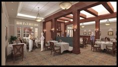 Senior Living Dining Room - 3D Computer Rendering by Ector