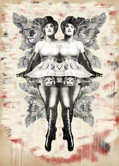 Yva (Yva Richard), Mixed Media on Canvas, 5' x 7', by Cass Fuller, $2500