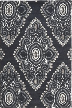 Safavieh Wyndham WYD-372 Dark Grey / Ivory (C) Area Rugs