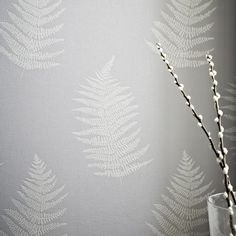 Verdant Grey Wallpaper - Leaf Wall Coverings by Graham  Brown