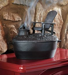 Cast Iron Adirondack Chair And Fire Pit Wood Stove Steamer