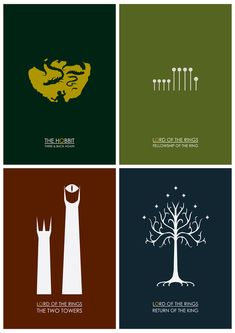 LordOfTheRings and Hobbit minimalist posters by Adam James