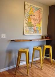 Easy And Cheap Cool Ideas: Floating Shelves Closet Life large floating shelf display.Floating Shelf Entertainment Center Small Spaces floating shelf under tv built ins.How To Make Floating Shelves Bathroom. Wall Mounted Bar, Wall Mounted Kitchen Table, Mounted Tv, Basement Living Rooms, Bar Shelves, Wall Bar Shelf, Shelf Display, Pub Table Sets, Bar Tables