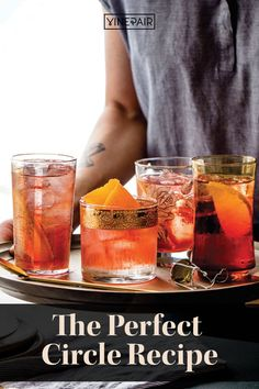 "Whether you're fixing punch for a party or hosting an intimate dinner, this #make-ahead Campari #punch from Maggie Hoffman's ""Batch Cocktails"" is the #set-it-and-forget-it of drinks. Now all you have to do is finalize the guest list. Wine Cocktails, Cocktail Recipes, Alcoholic Drinks, Orange Wheels, A Perfect Circle, Guest List, Sparkling Wine, Punch, Forget"