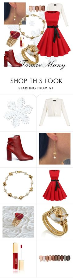 """""""christmas wear Holidays !!"""" by tamarmanyjewelry on Polyvore featuring BCBGMAXAZRIA and Mercedes Castillo"""