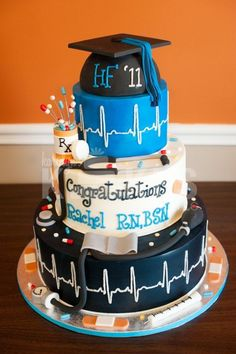 Nursing graduation cake ideas - #nursing #school #graduation