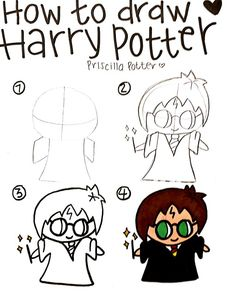 potter harry drawings draw easy drawing cartoon step characters doodles whatever terrible lessons sketches discover