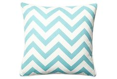 Chevron 20x20 Pillow, Clear Blue on OneKingsLane.com