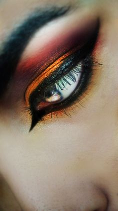 Desert Fire .. I'm going to try this with my orange and black Halloween outfit!
