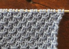 Free Diagonal Cross Stitch Knitting Pattern that is quite pretty from both sides! Abbreviations: k = knit p = purl yo = yarn over Cast on multiples of 4 + 2 Row 1: *k1, p1; rep from * to end Row 2: *k1, p1; rep from * to end Row 3: *yo, k1, p1, k1,…