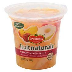Del Monte Fruit Naturals Cherry Mixed Fruit in 100% Juice 7 oz