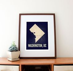 Brookland, next stop.     Washington DC Love Print 11 x 14 by amycnelson on Etsy, $32.99