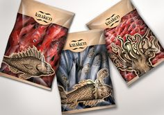 KRAKEN / sea food / graphic design packaging