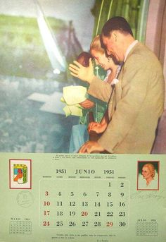 CALENDARIO PERONISTA DE 1951 President Of Argentina, Queen, Presidents, Success, Positivity, Humor, Dani, Life, Gothic