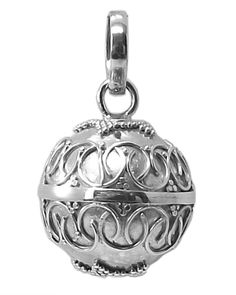 ANGEL CALLER / BOLA CHARM Pendant 925 Sterling SILVER 16mm Chiming Sphere #6