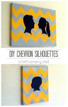 Chevron painted canvas #canvas_art #DIY